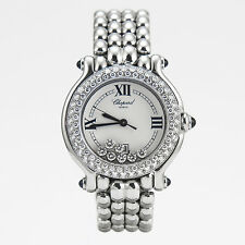 Chopard Happy Sport Round Classic Diamond Quartz 32MM White Dial 278291-2005