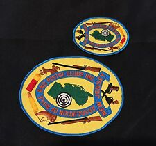 "FIREARMS ""SET OF 2"" PATCHES .. Sew on /iron on (NJ Assoc. of Rifle & Pistol Club"