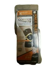 """Copper Fit Pro Series Performance Compression Knee Sleeve Brace XL 19.5-21"""""""