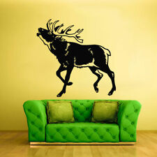 Wall Vinyl Sticker Decals Kids Animal Deer Buck Elk Cute Horns (Z1830)