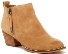 NIB Dolce Vita Saira Dual Zipper Ankle Boots Tan Suede Size 7 M