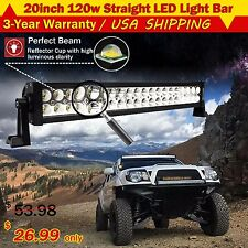 20Inch 120W Led Light Bar Flood Spot Combo Work Lamp 4WD UTE OFFROAD SUV ATV 22