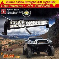 20Inch 120W Led Light Bar Flood Spot Combo Work Lamp 4WD UTE OFFROAD SUV ATV 22