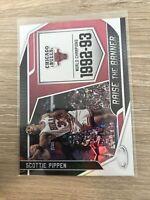 Scottie Pippen 2019-20 Panini Certified Raise The Banner #16 Chicago Bulls