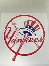 "MLB New York Yankees Vinyl Bumper Sticker Decal Car Truck Laptop 4""x4"""