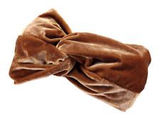 Fascia capelli da donna Barts effetto velluto elastica marrone intrecciata