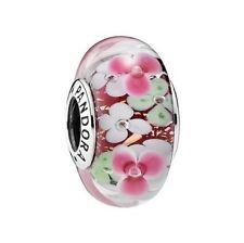 Authentic Pandora 791652 FLOWER GARDEN Murano Glass bead charm new