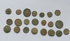 LOT OF 22 ANCIENT ROMAN IMPERIAL BRONZE COINS III-V CENTURY AD