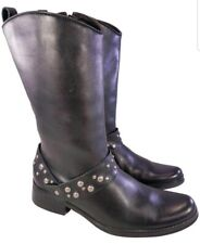 MATISSE WOMAN STUDDED BLACK RIDING EQUESTRIAN BOOTS SIZE  6 M