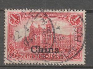 Dt. Post in China - Nr.: 24 - gebraucht - Bpp-geprüft Steuer
