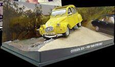 JAMES BOND 007 model film cars FOR YOUR EYES ONLY Citroen 2CV Lotus Peugeot 504