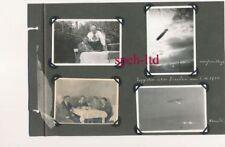 Original Foto /  Zeppelin über Dresden am 5.10.1930, Seite aus Fotoalbum