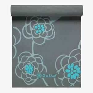 "Gaiam Premium 5MM Extra Thick Yoga Mat ""Icy Blossom"" 05-59629"
