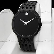 Men's Movado ESPERANZA PVD Latest Model Black Dial Swiss Quartz Watch 0606344
