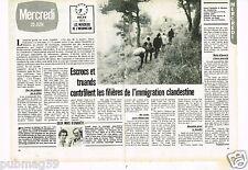 Coupure de presse Clipping 1982 (2 pages) Immigrations Clandestines