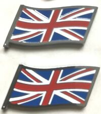 New PAIR of MG Rover Union Jack Flag OE Badge MGF Mini Rover 200/400/25/45/75