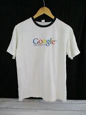 Canvas Google.com White Tee Shirt Size Medium I'm Feeling Lucky