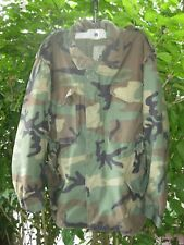 Vintage Camouflage Camo Coat Size Medium S Cold Weather Military Woodland Field