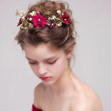 MagiDeal Frauen Braut Hochzeit Blume Perlen Stirnband Haar Schmuck Zubehör