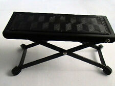 More details for guitar foot stool folding footstool rest acoustic classical practice jam metal
