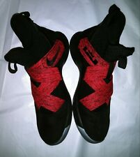 NIKE Lebron Soldier VII 12 Sneakers Shoes Red Black Mens Size 9 M Preowned GC!