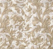 Elegant Tan Swirls on White Tissue Paper # 527 ~ 10 Large Sheets