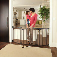 Walk Thru Baby Gate Door Tall Wide Infant Child Pet Safety Security Double Lock