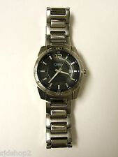(M) FOSSIL BLUE SILVER BLACK DIAL WATCH 10 ATM AM4068 PRE-OWNED WORKING BATTERY