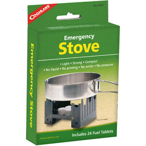 Coghlan's Emergency Stove & 24 Fuel Tablets, Camping Emergency Survival Camp Kit