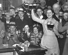 8x10 photo Prohibition repealed, 1933. Celebration at a bar, saloon in Chicago
