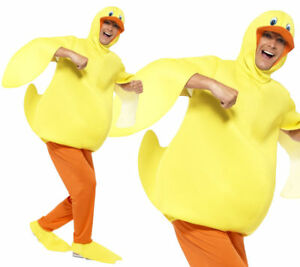Chicken Costume Mens Womens Fancy Dress Jumpsuit World Book Day Week