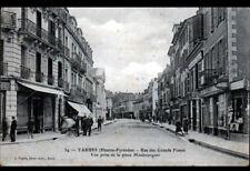 TARBES (65) COMMERCES & SALON de COIFFURE / Rue des GRANDS FOSSES animée 1900