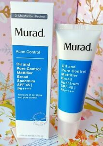 Muard Acne Control Oil Pore Control Mattifier Broad Spectrum SPF 45 PA +++1.7 OZ