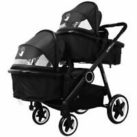 Baby Toddler Pram System & In Line Travel Tandem Lightweight + Second Seat New