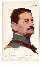 Vintage Postcard GENERAL MANGIN portrait WW1 French Army Red Cross Bouchor