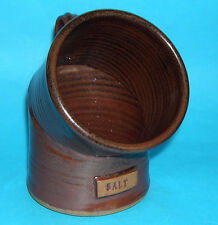 Studio Pottery - Handsome Stoneware Salt Pig Smart Design & Name on Item -M.Mark