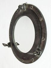 """Aluminum Finish 15"""" Ship's Cabin Porthole Mirror Round Nautical Maritime Decor"""