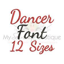 Dancer Script Machine Embroidery Font - 12 Sizes - IMPFCD41