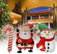 Christmas Santa Claus, Snowman, Candy Cane, Balloon,Foil Xmas Balloons