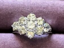 QVC  Diamonique Platinum clad Cubic Zirconia ring size 10
