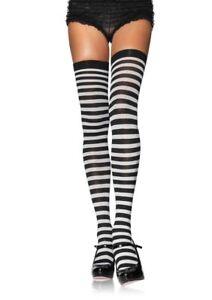 Leg Avenue Nylon Striped Thigh Highs Stockings