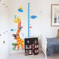 animal giraffe removable height chart wall sticker kid's growth chart wall dJQA