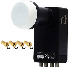 Inverto Black Ultra DIGITAL Quattro LNB HDTV für Multischalter + 4x F-Stecker