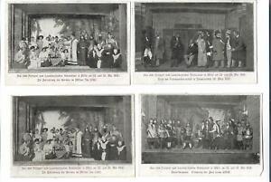 Y19505/ 4 x AK Mölln  Festspiel zum Lauenburgischen Heimatfest 1908