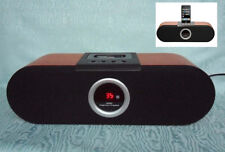 Dual iwood estación de acoplamiento-Universal docking iPod, Aux-in, pantalla led, madera,...