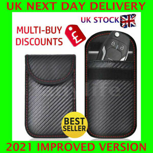 New 2 x Car Key Signal Blocker Case Faraday Cage Fob Pouch Blocking Bag UK