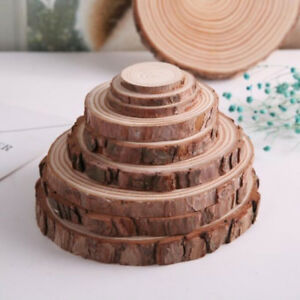 Round Circles Of Wooden Slices With Tree Bark Log Disks For Crafts DIY Decor