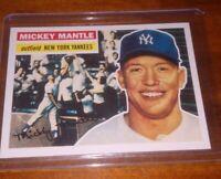 Mickey Mantle 1956 Topps baseball card #135 New York Yankees Topps 2011 Reprint