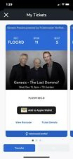 Genesis The Last Domino? Tour 12/15/21 Boston,MA  2 Floor Seats And Parking Pass