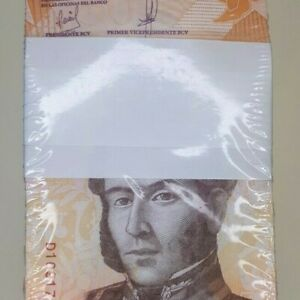 Venezuela 50 Cincuenta Bolivares Banknote Brick 1,000 notes unc, Date 2018